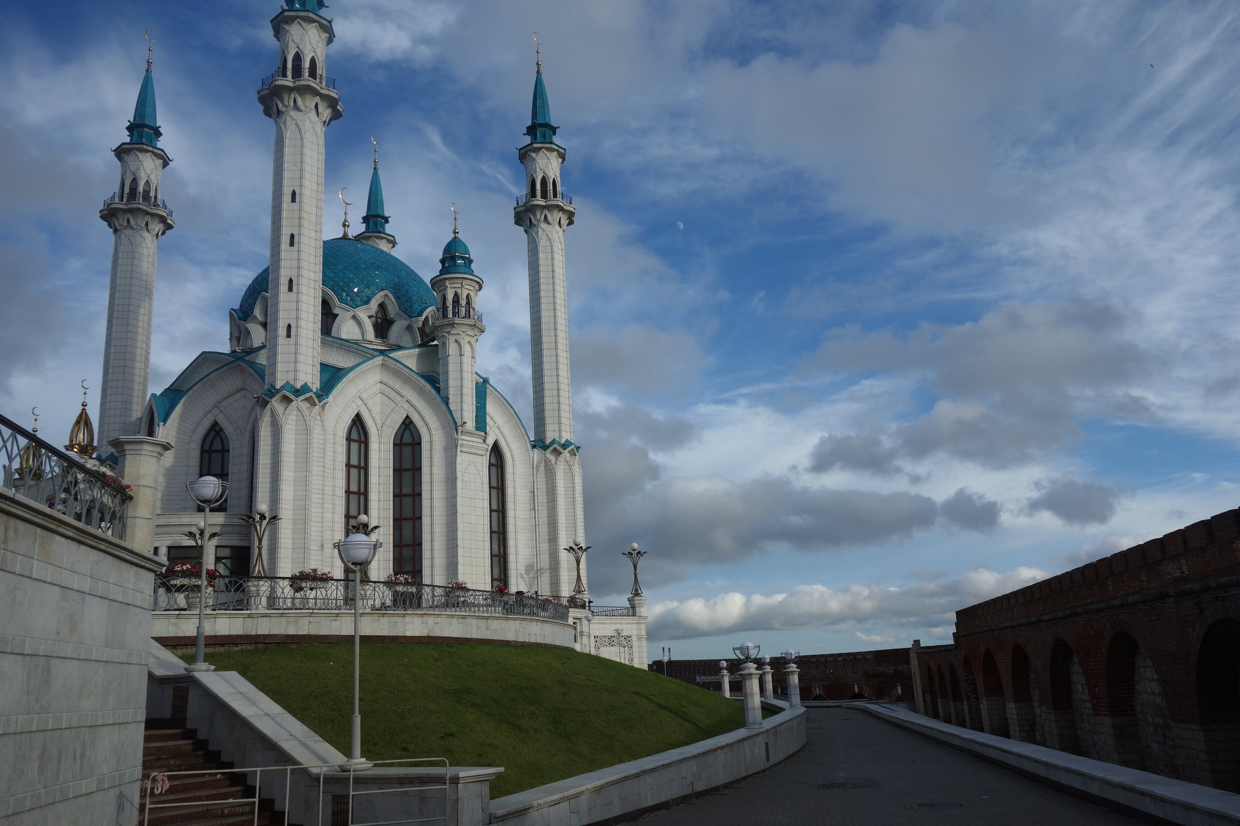 Mosque within Kazan's Kremlin. One of the biggest in all of Europe.