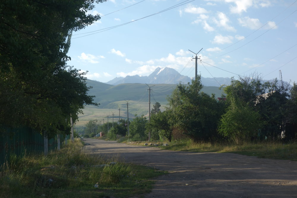 Road leading out of the town.