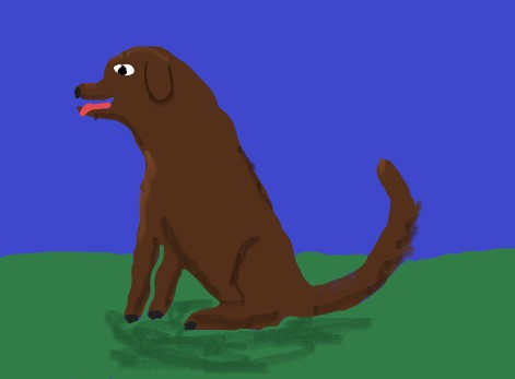 Artistic rendition of the dog