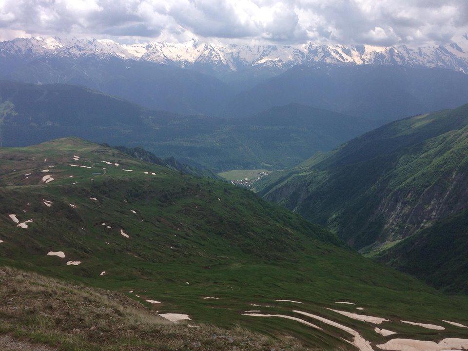 Greater Caucasus on the horizon