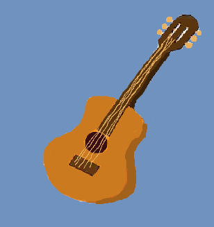 Artistic rendition of the guitar