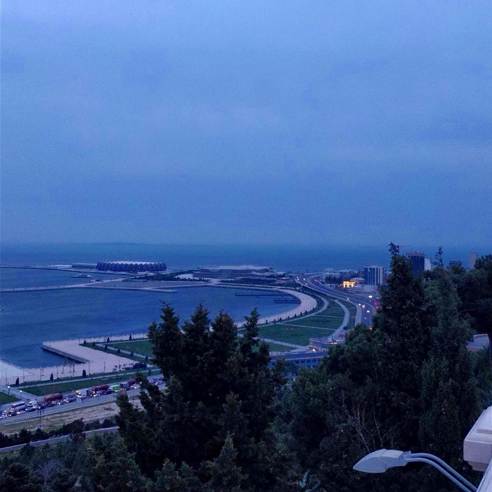 Hill overlooking the Caspian Sea