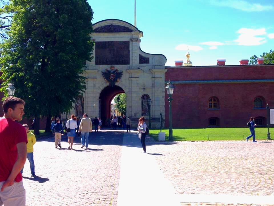Entrance to Peter and Paul Fortress