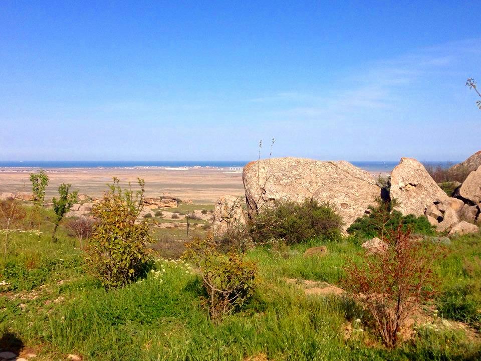 Caspian Sea up ahead