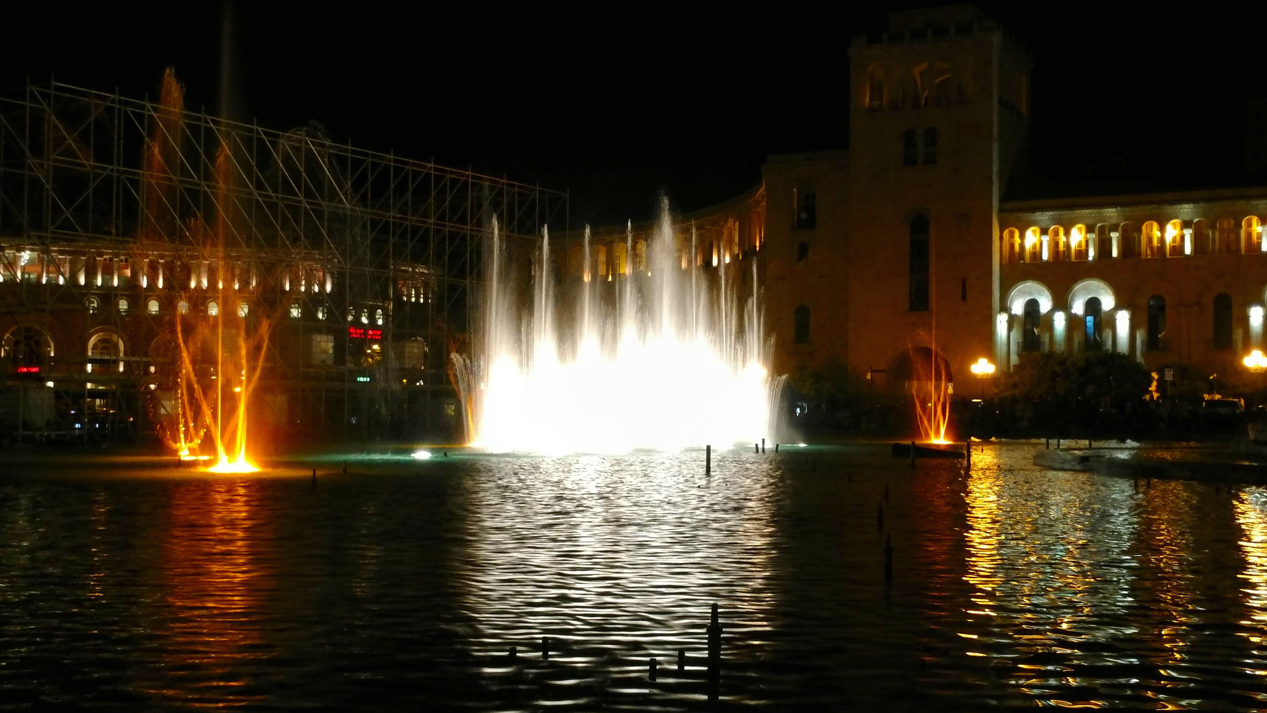 Dancing fountains of Yerevan