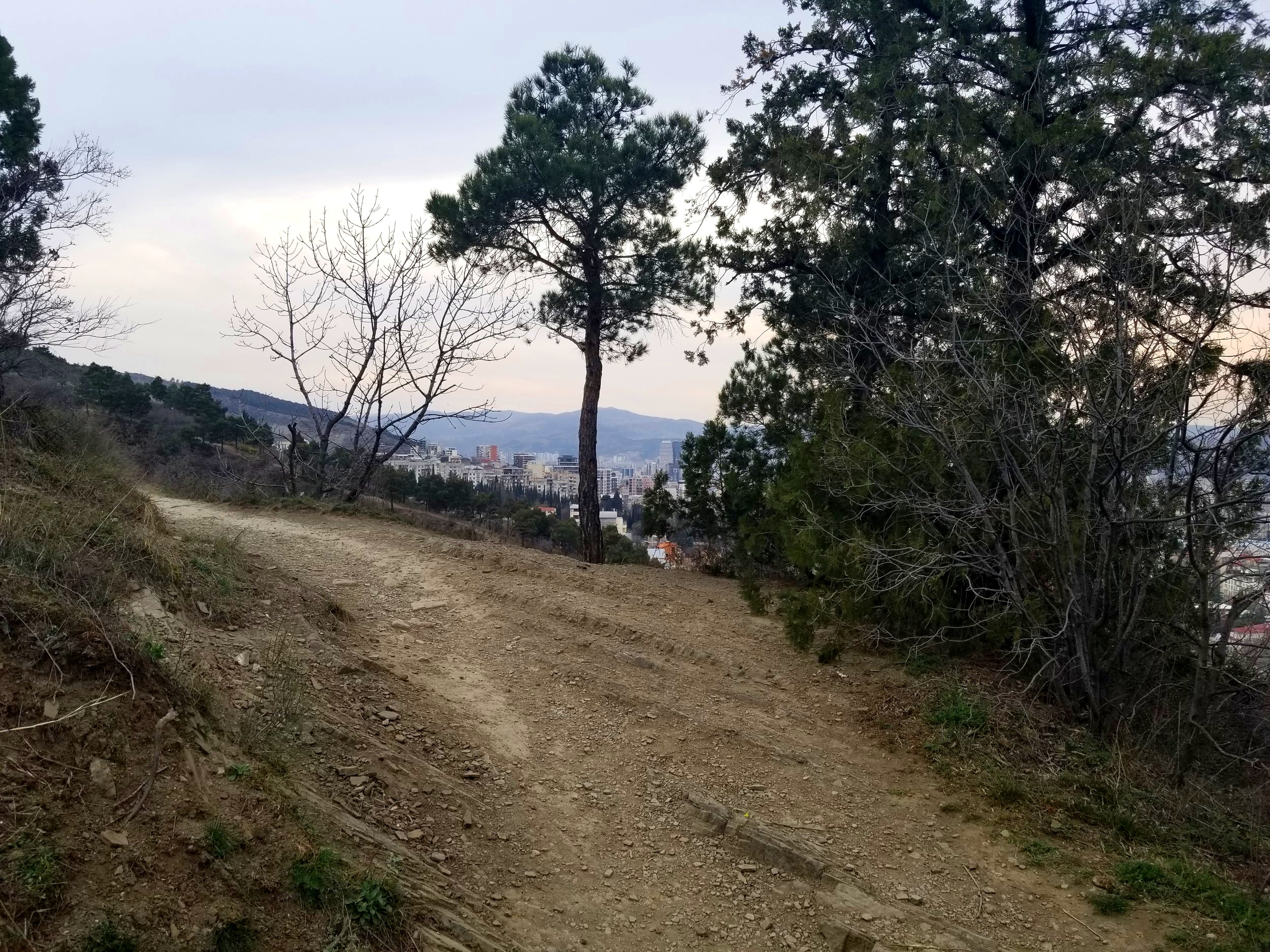 Hiking trail up to Tbilisi TV Tower