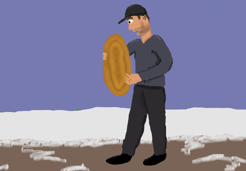 Man with bread