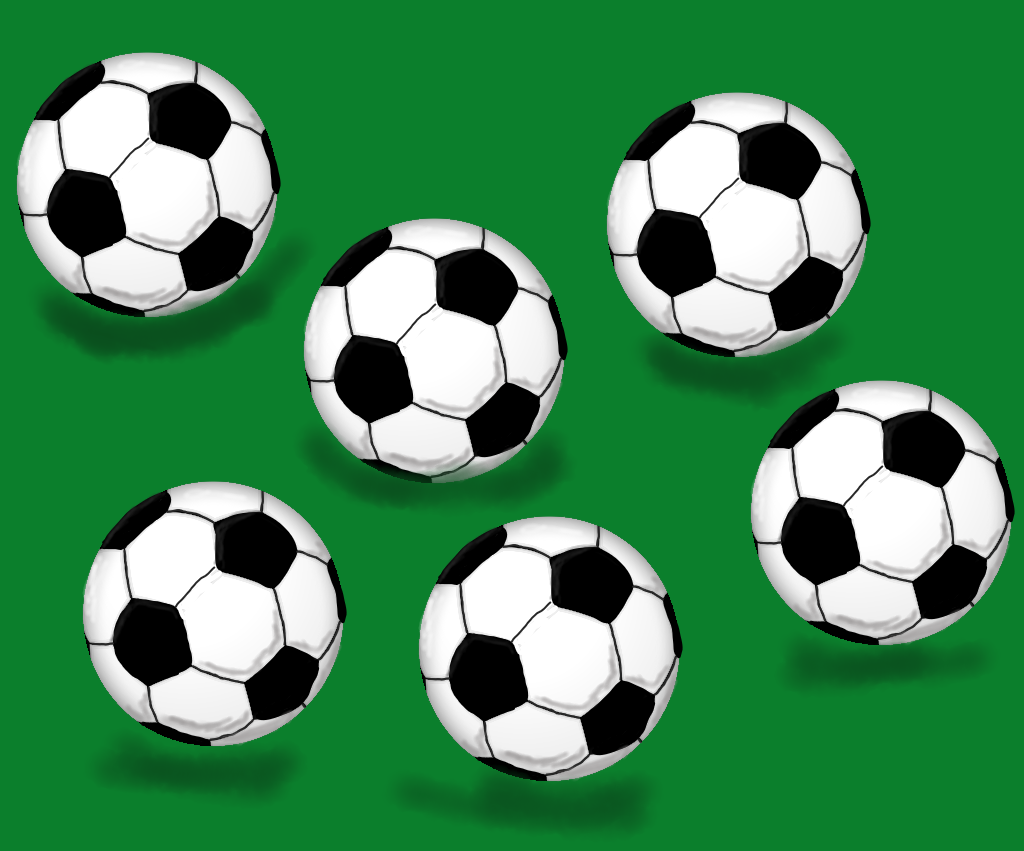 For those of you who lack visual imagination, this is what six soccer balls looks like.
