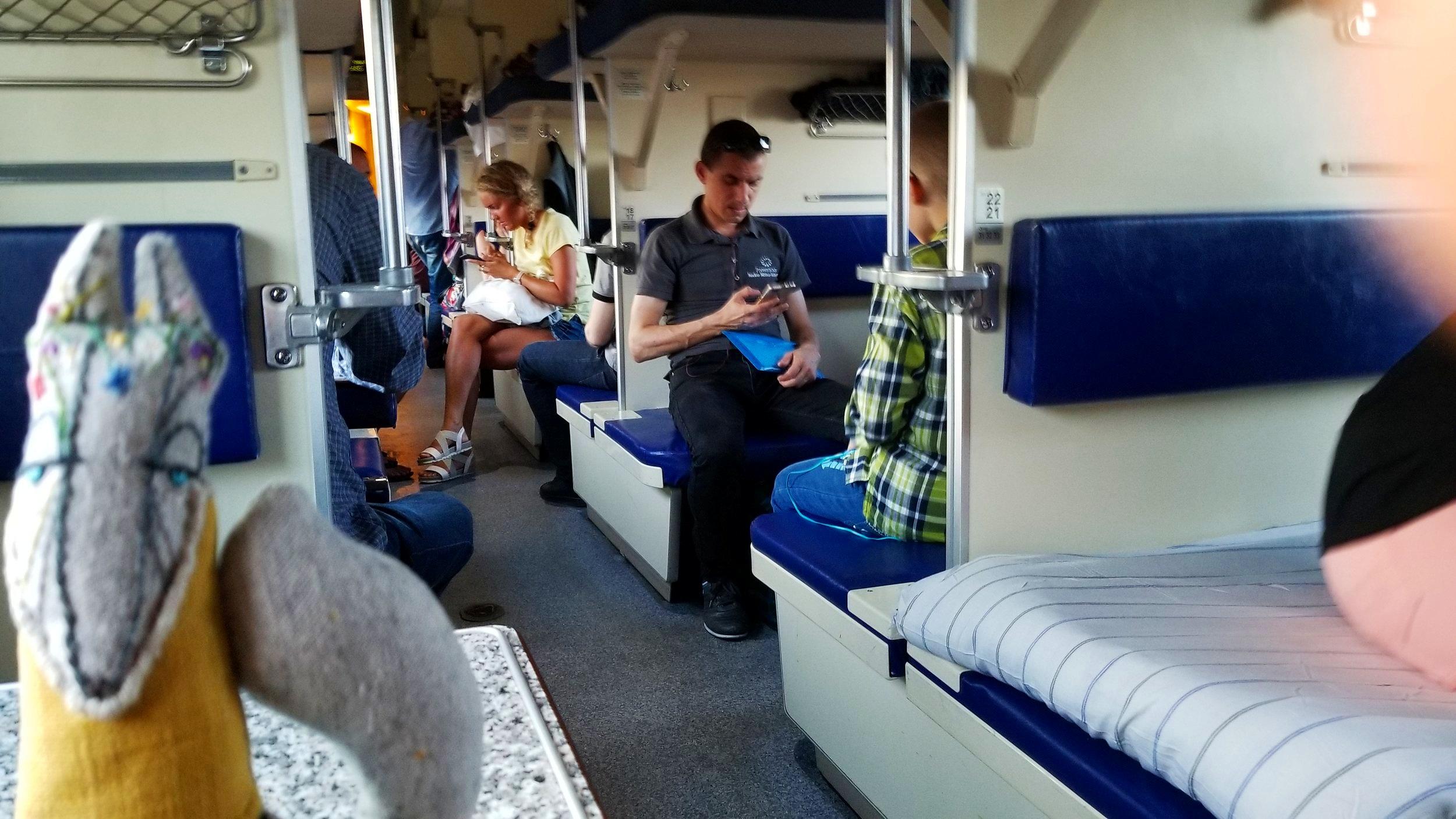 Russian train from Petrozavodsk to Murmansk