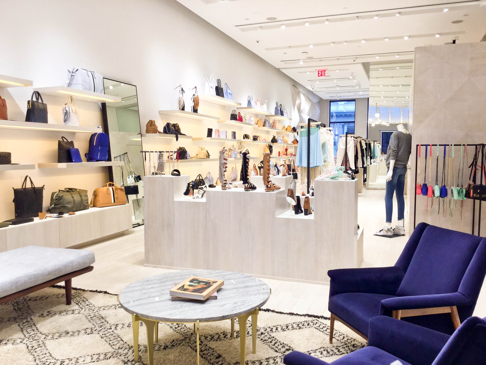 The Rebecca Minkoff flagship retail store in Soho ready for the grand opening