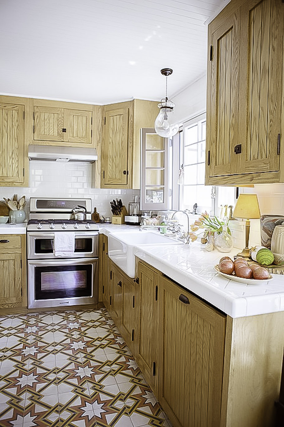 Designer kitchen remodels with high end appliances, countertops and farm style sink