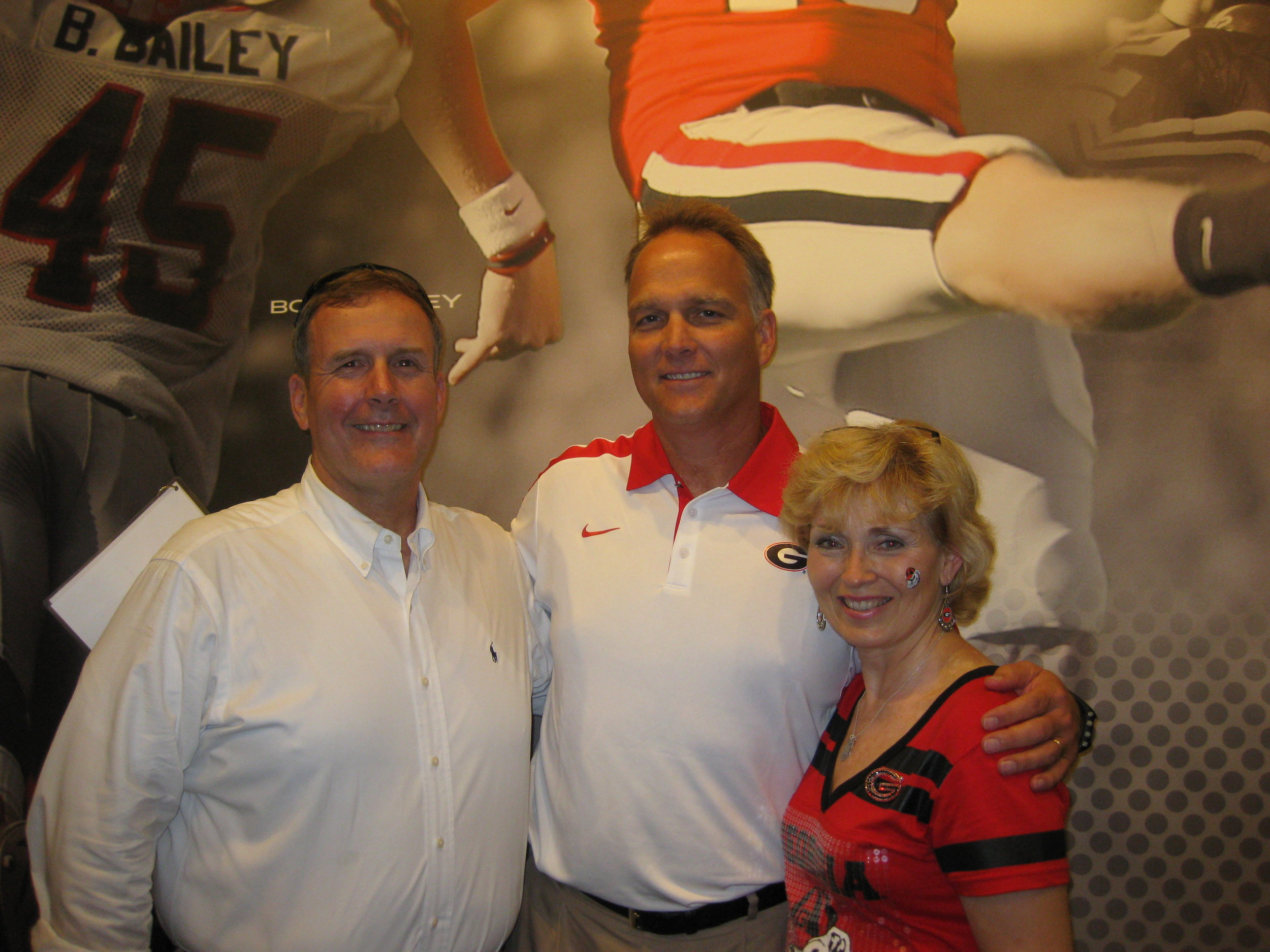 Me, Tammy and Coach Richt.jpg