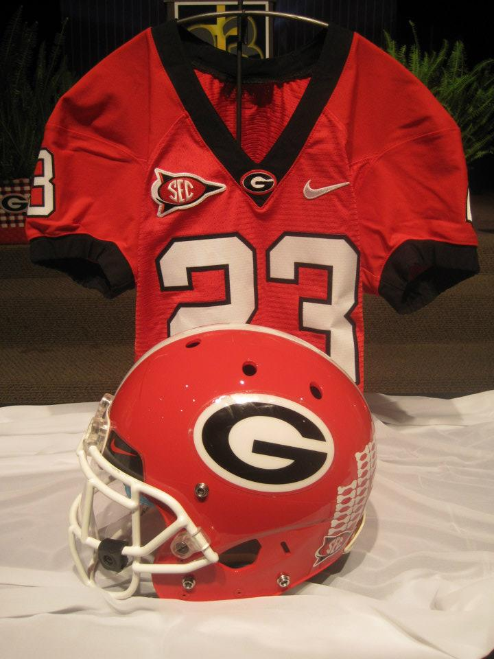 Closeup of UGA jersey and helmet.jpg