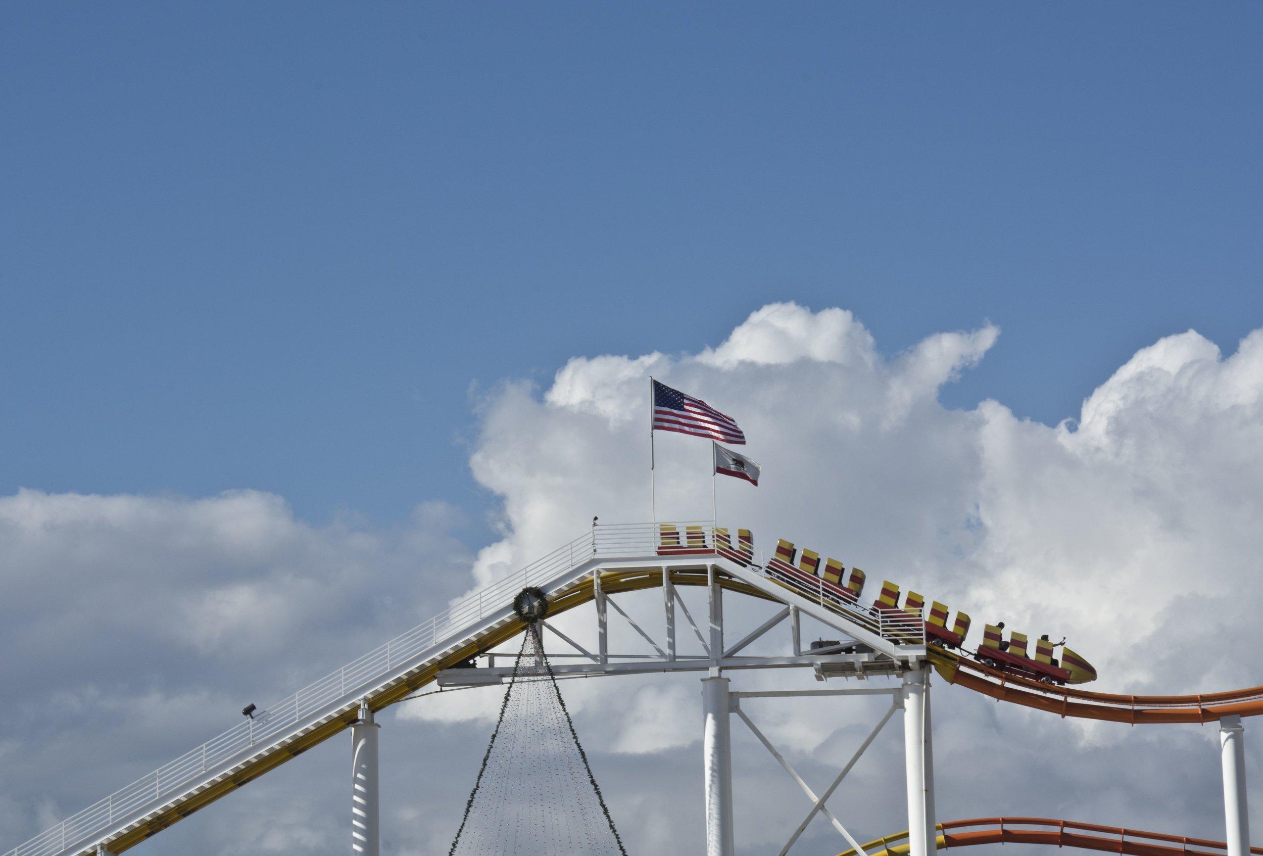 Roller coaster in Santa Monica