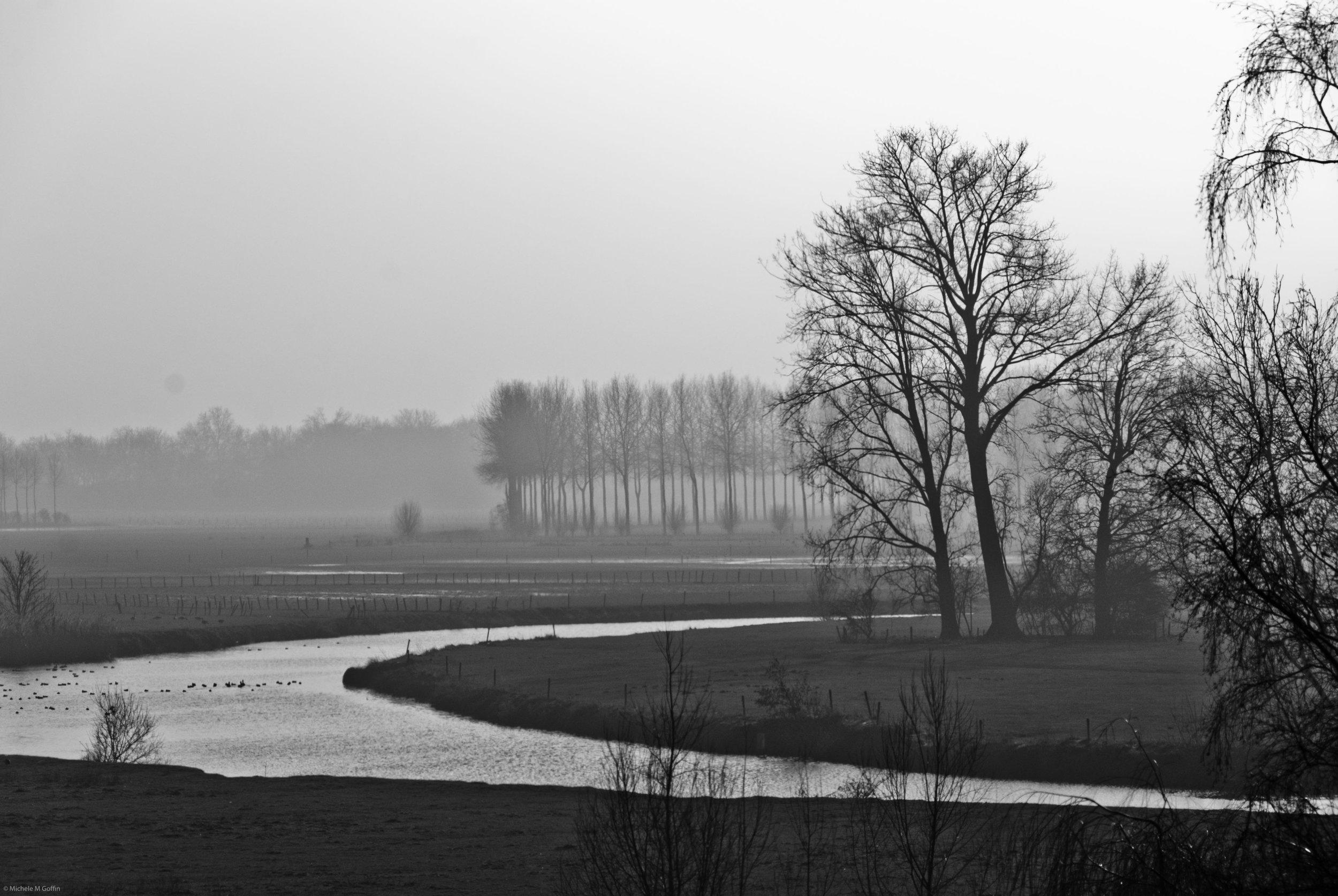 Misty River B&W