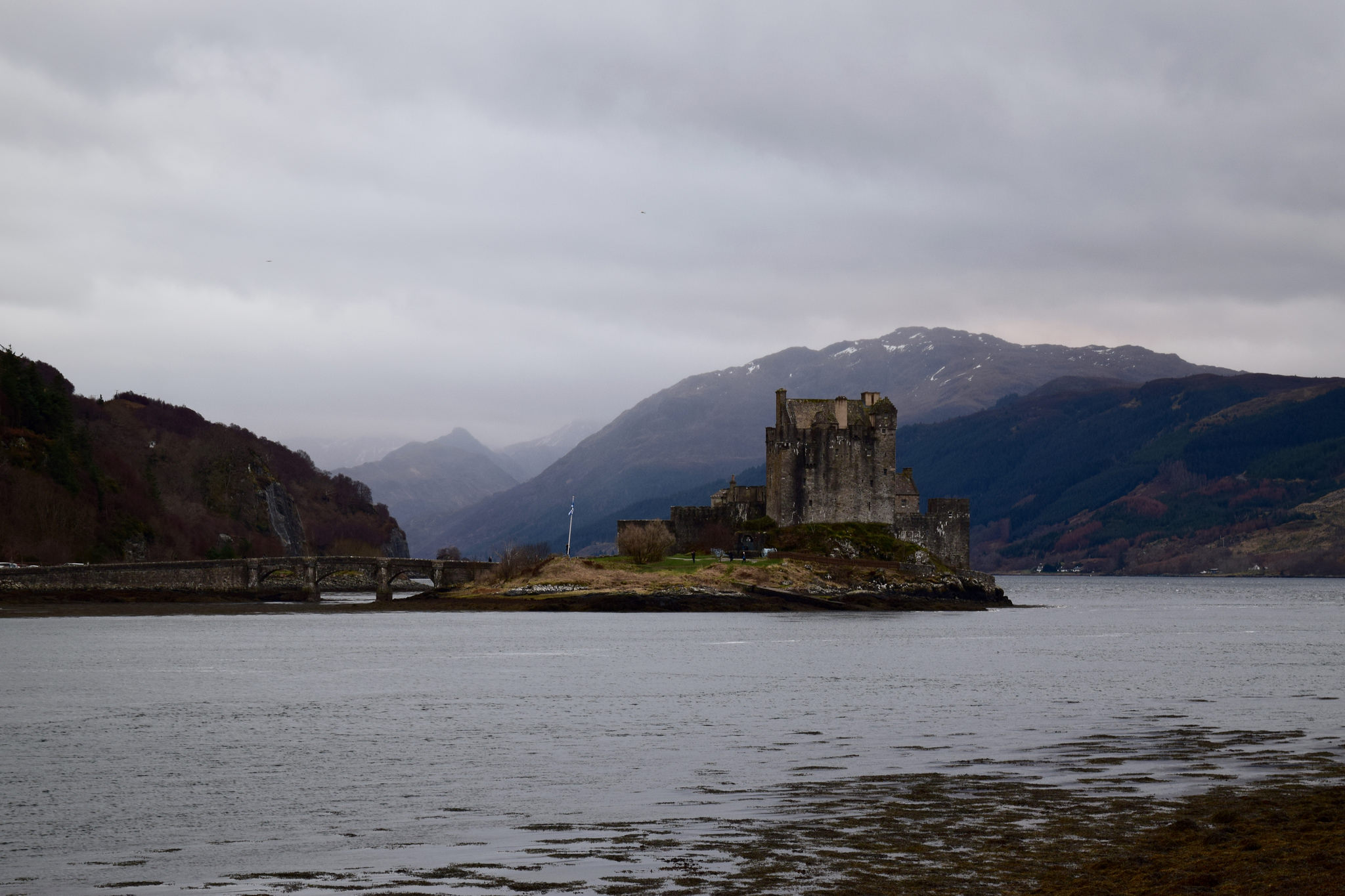 Just before the bridge to the Isle of Skye is Eileen Donan Castle, jutting out into the loch.