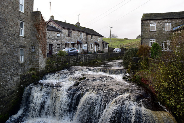 Village of Buckden in the Yorkshire Dales where we spent the night