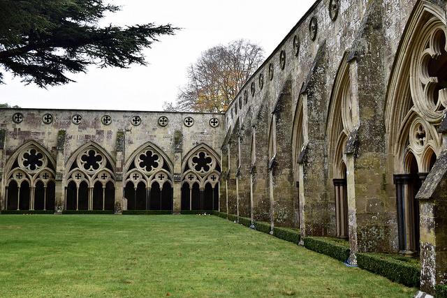 Courtyard Salisbury Cathedral