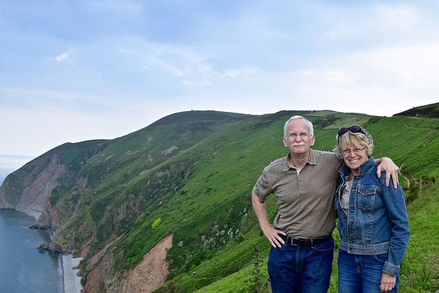 Dave and Mary Paula in Devon