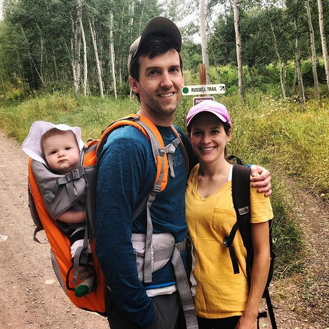 Celebrating our anniversary in Telluride with our wiggly little guy. ⛰