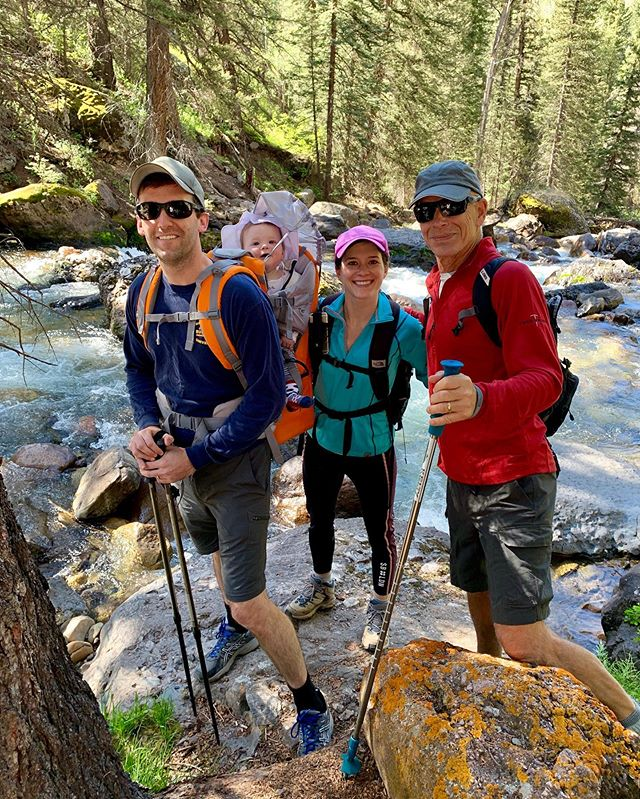 Hiking Keystone Gorge yesterday. Peter is loving the backpack life.