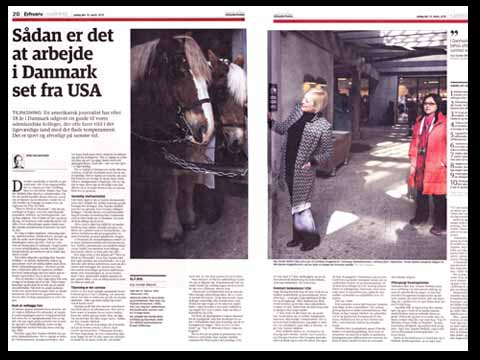 "IN JYLLANDS-POSTEN: DAnish WORKPLACE CULTURE, FROM AN AMERICAN POINT OF VIEW - Denmark's highest-circulation newspaper, the Jyllands-Posten, published an extensive interview with Kay following the publication of her book ""How to Work in Denmark.""Accompanied by photos taken at the Copenhagen headquarters of Carlsberg, Kay's former workplace, the article goes into Kay's reasons for coming to Denmark and her observations about the Danish workplace.Read more (in Danish)"