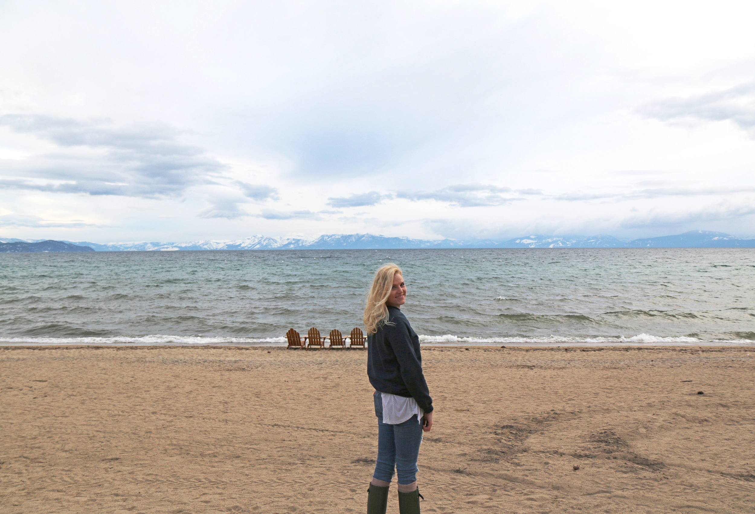 Lifestyle and travel blogger Bri Sul does Tahoe Lake near Reno, Nevada. An amazing solo trip to the Hyatt. On the beach and lake!