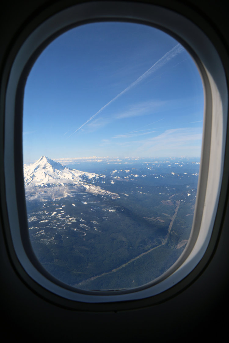 Beautiful view from a plane over Washington