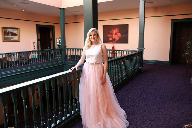 A beautiful tulle skirt dress for a wedding