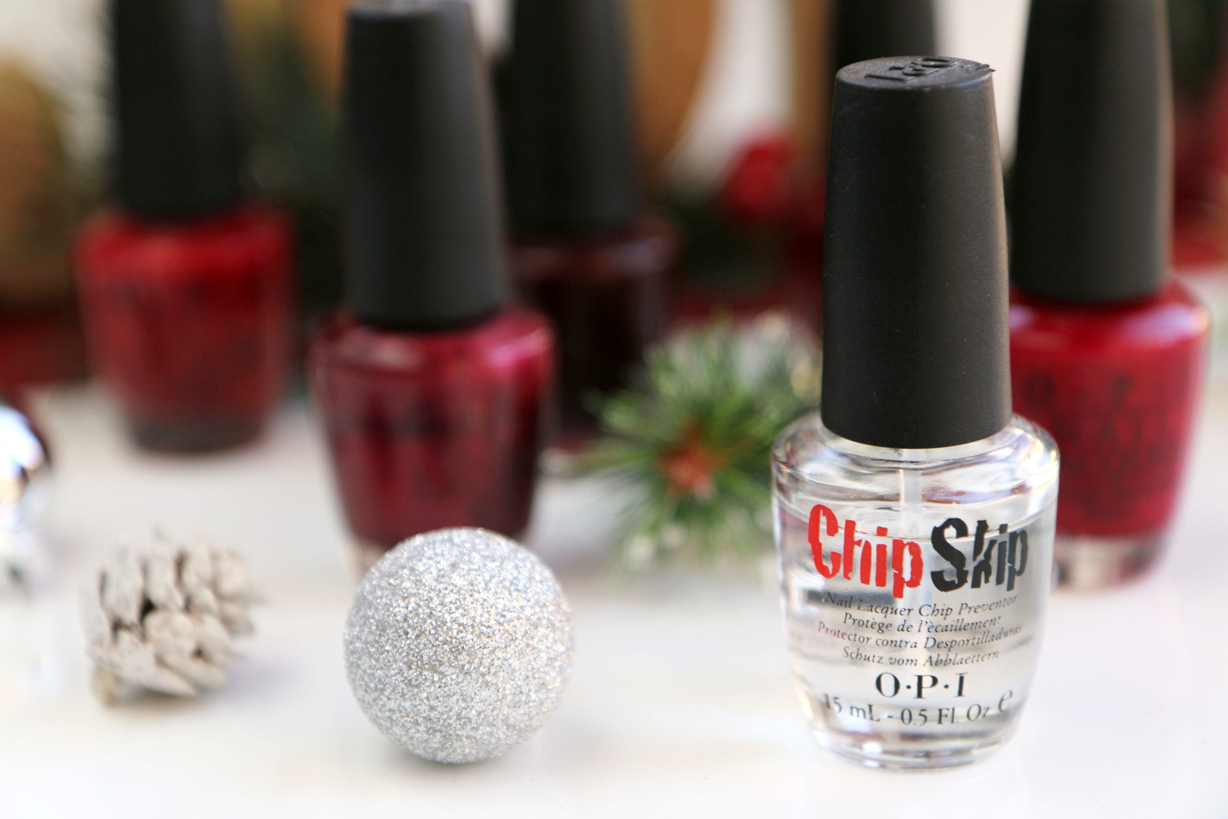 Christmas Red and Chip Skip OPI Nail Polish