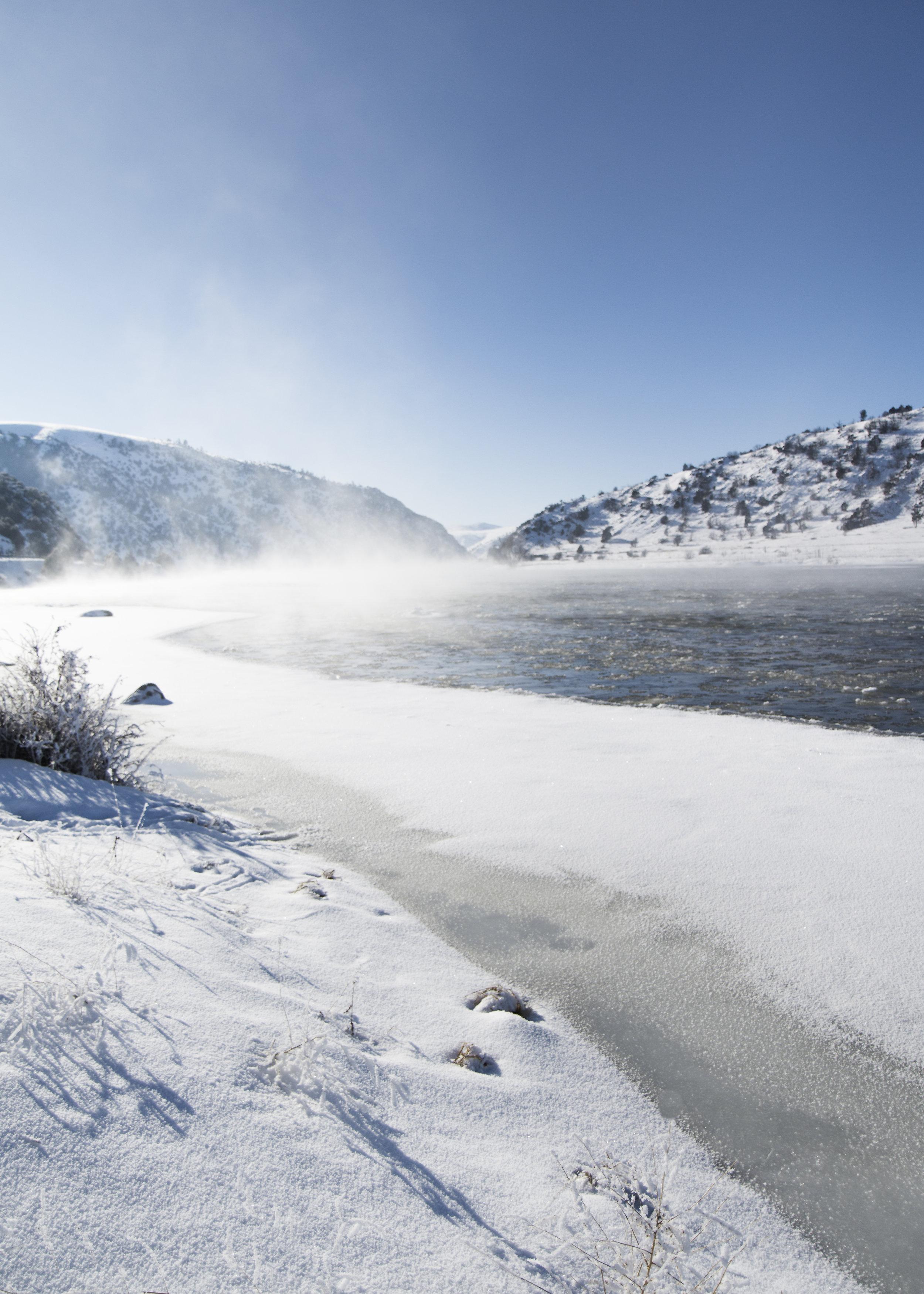 Madison River near Bozeman, Montana in the Winter