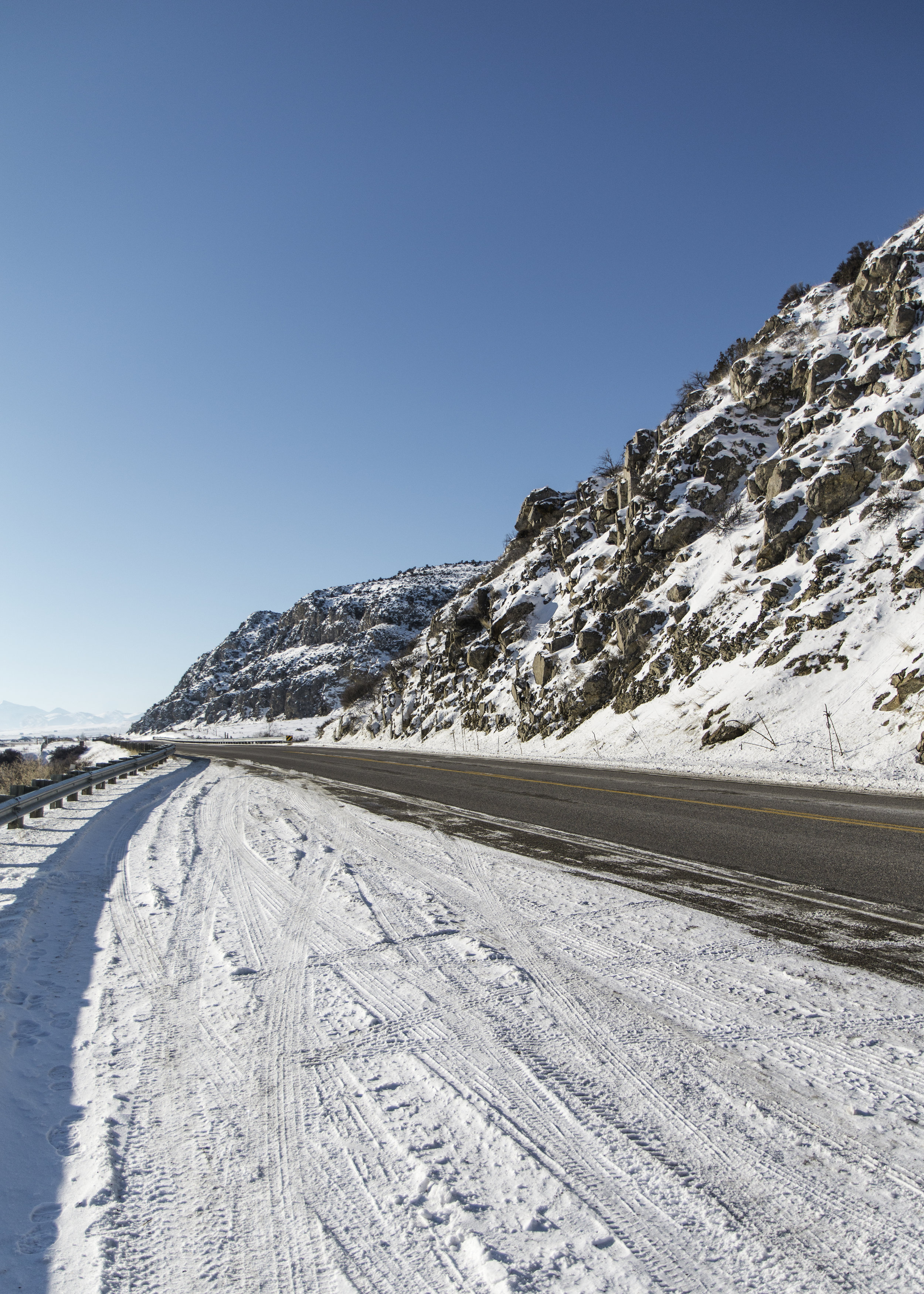 Montana Road in the Winter