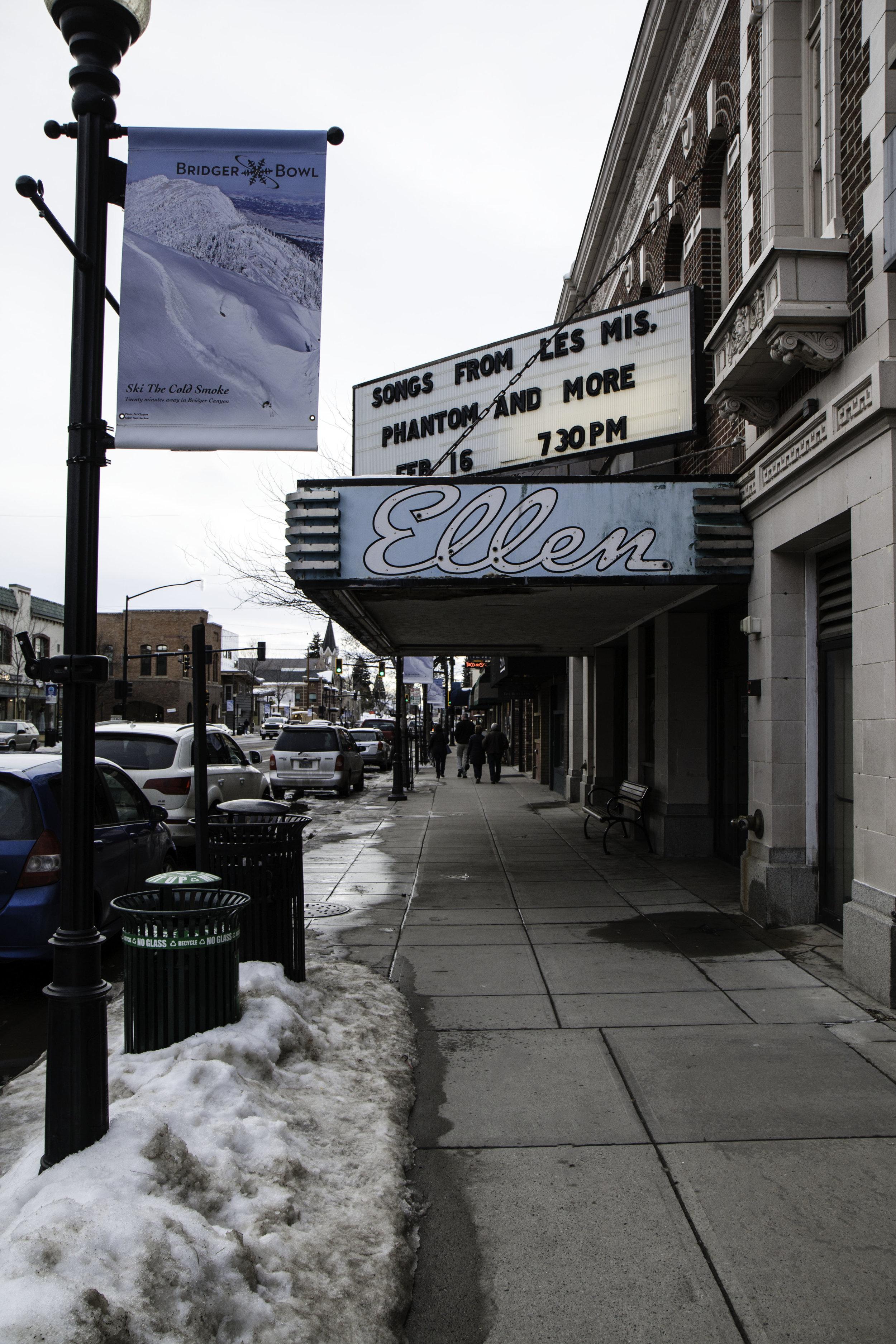 The Ellen Theatre in Downtown Bozeman, Montana