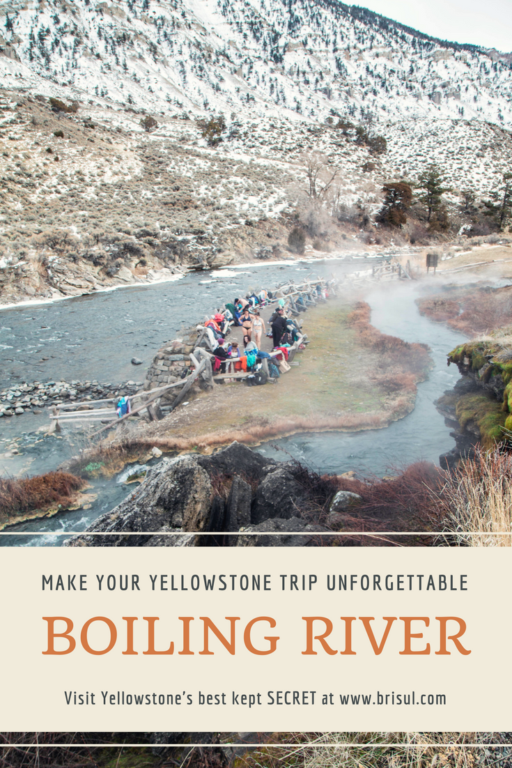 Boiling River in Yellowstone National Park