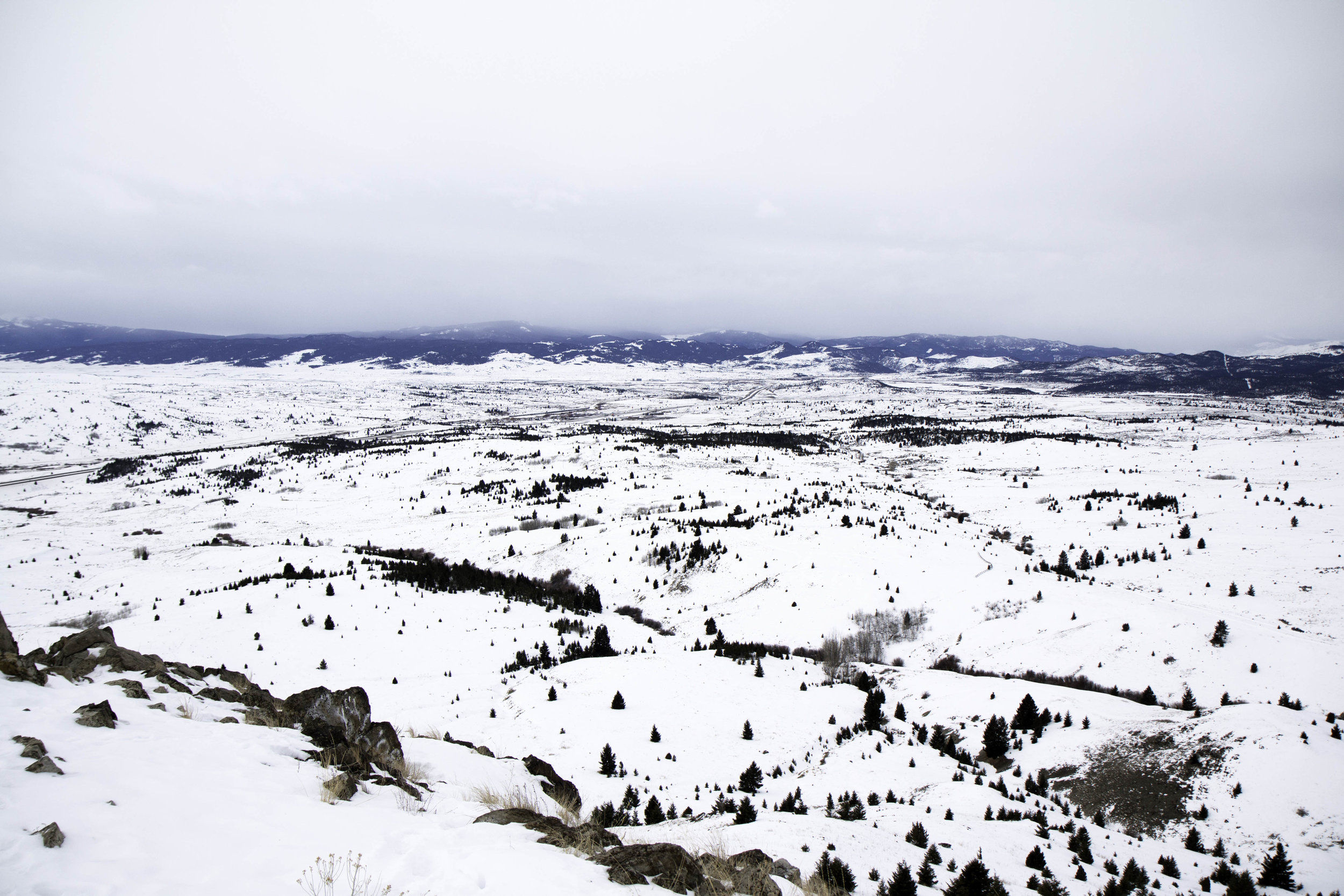 "The ""M"" Trail in Butte, Montana. Easy winter hiking ideas"