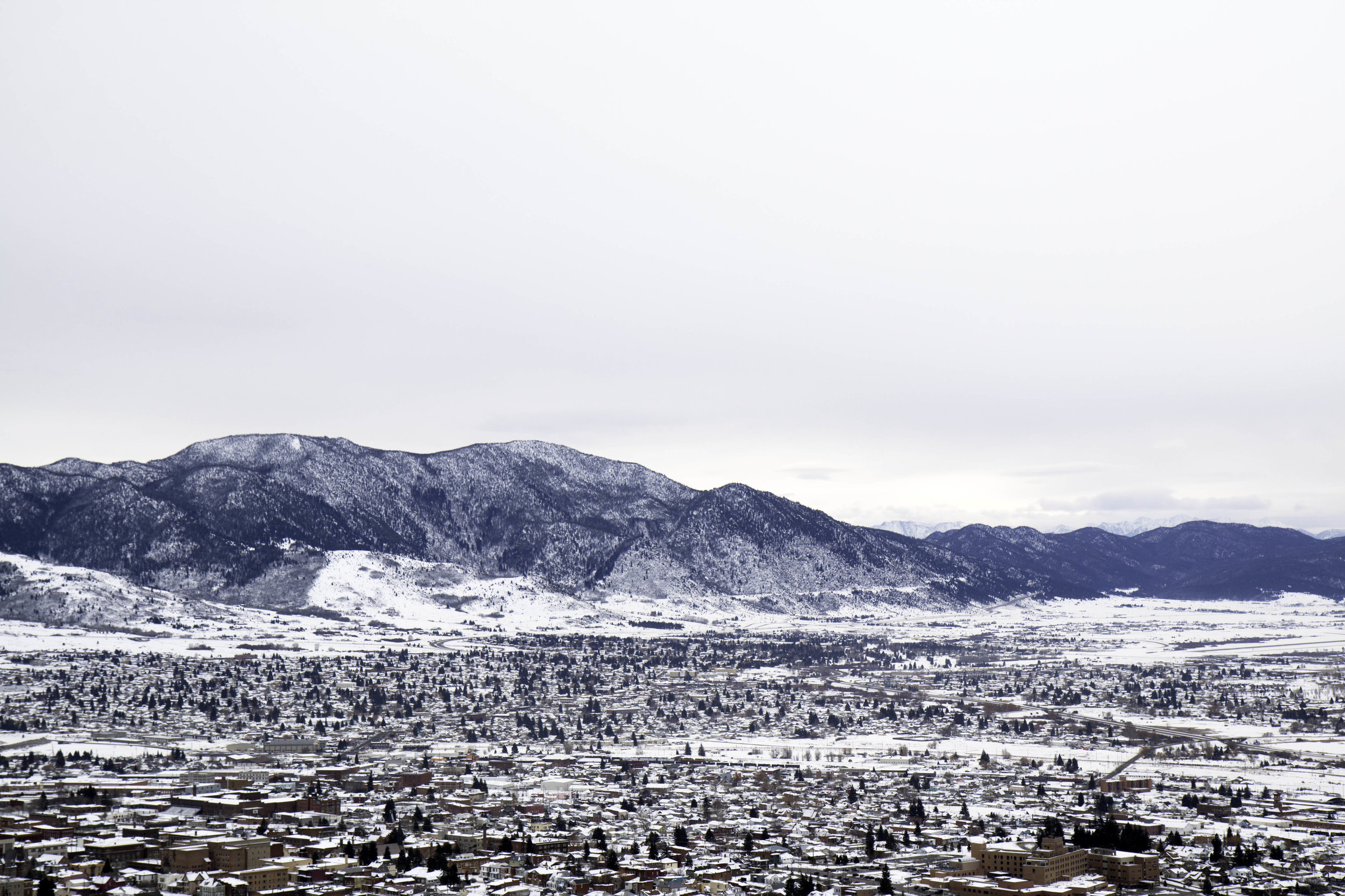 A quick hike up the M Trail in Butte, Montana. Winter hiking ideas that are easy and family-friendly
