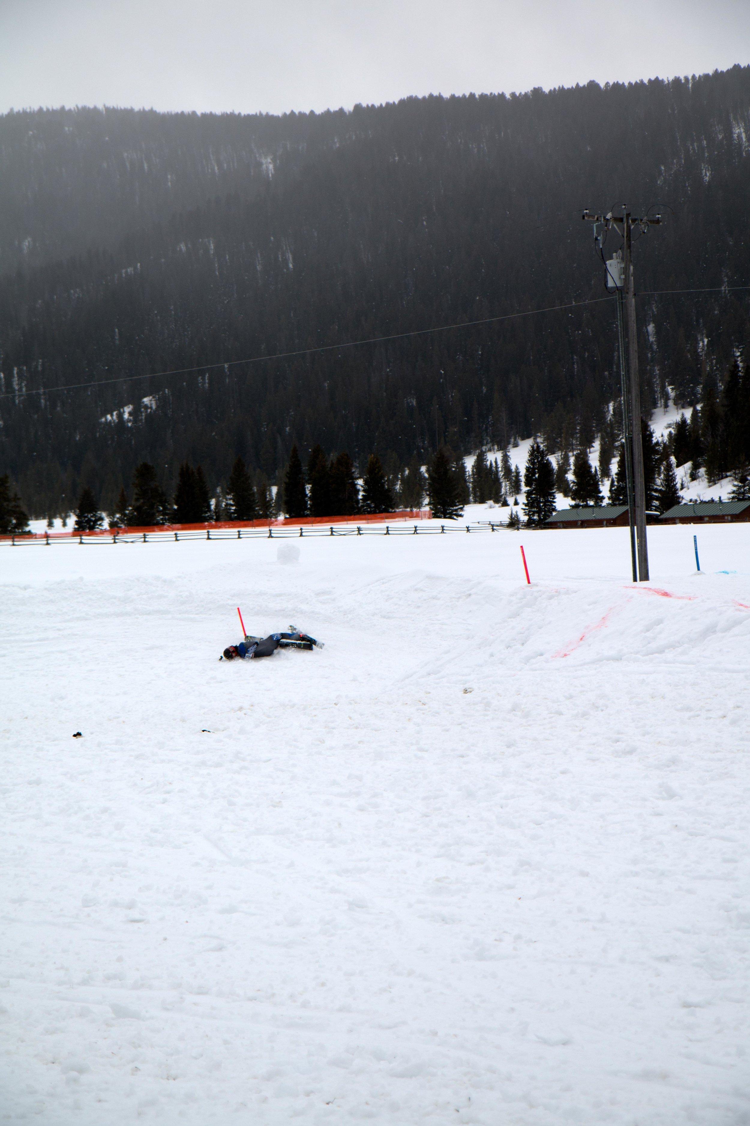 Ski Joring in Big Sky, Montana