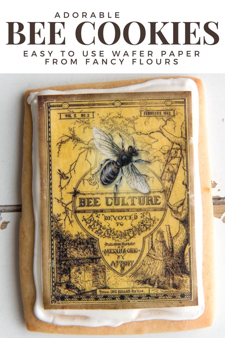 Edible Honey Bee Wafer Paper Cookies by Fancy Flours
