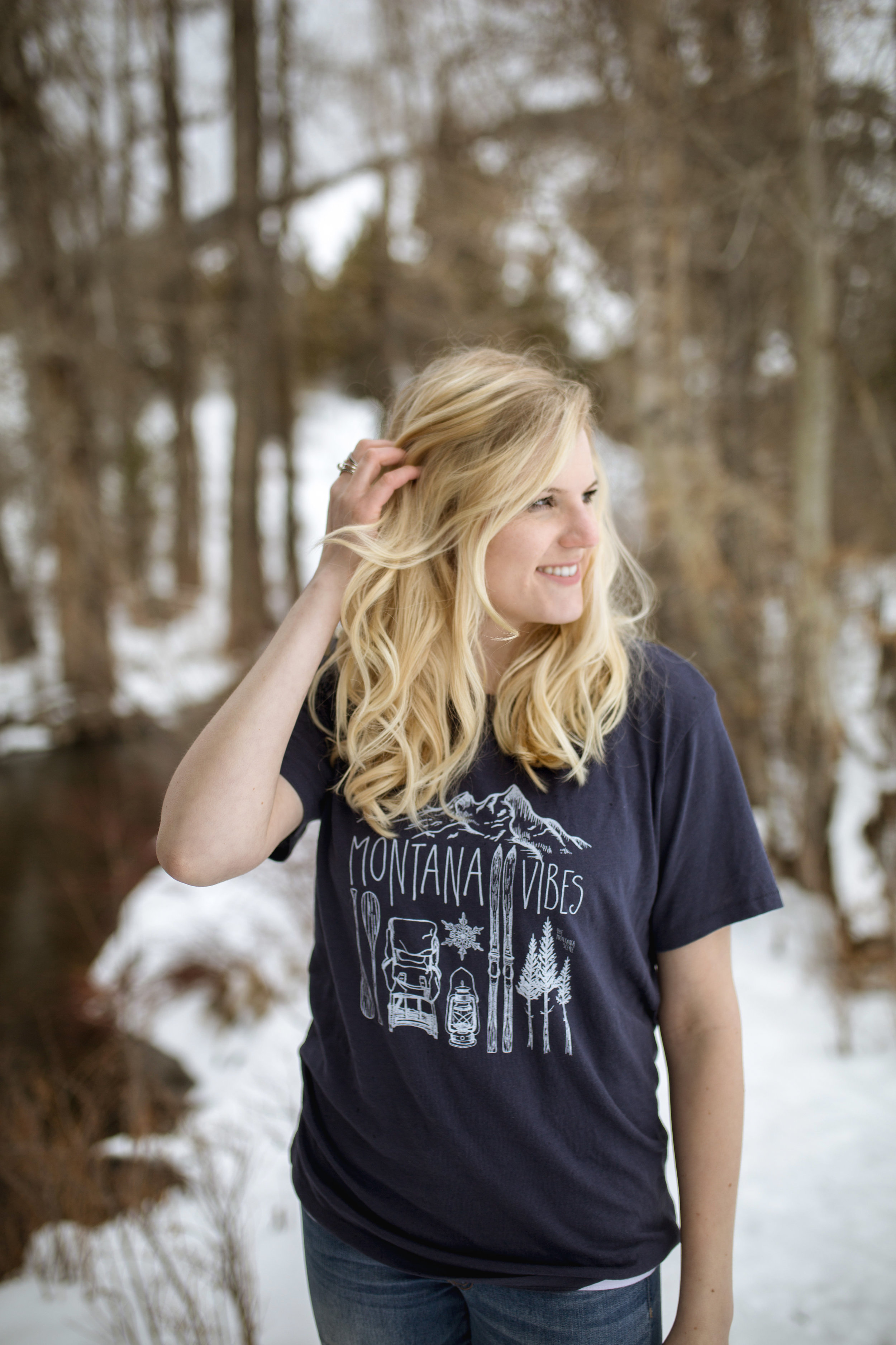 "The Montana Scene ""Montana Vibes"" tee shirt by blogger Bri Sul. Camping, skiing, hiking, outdoors,"