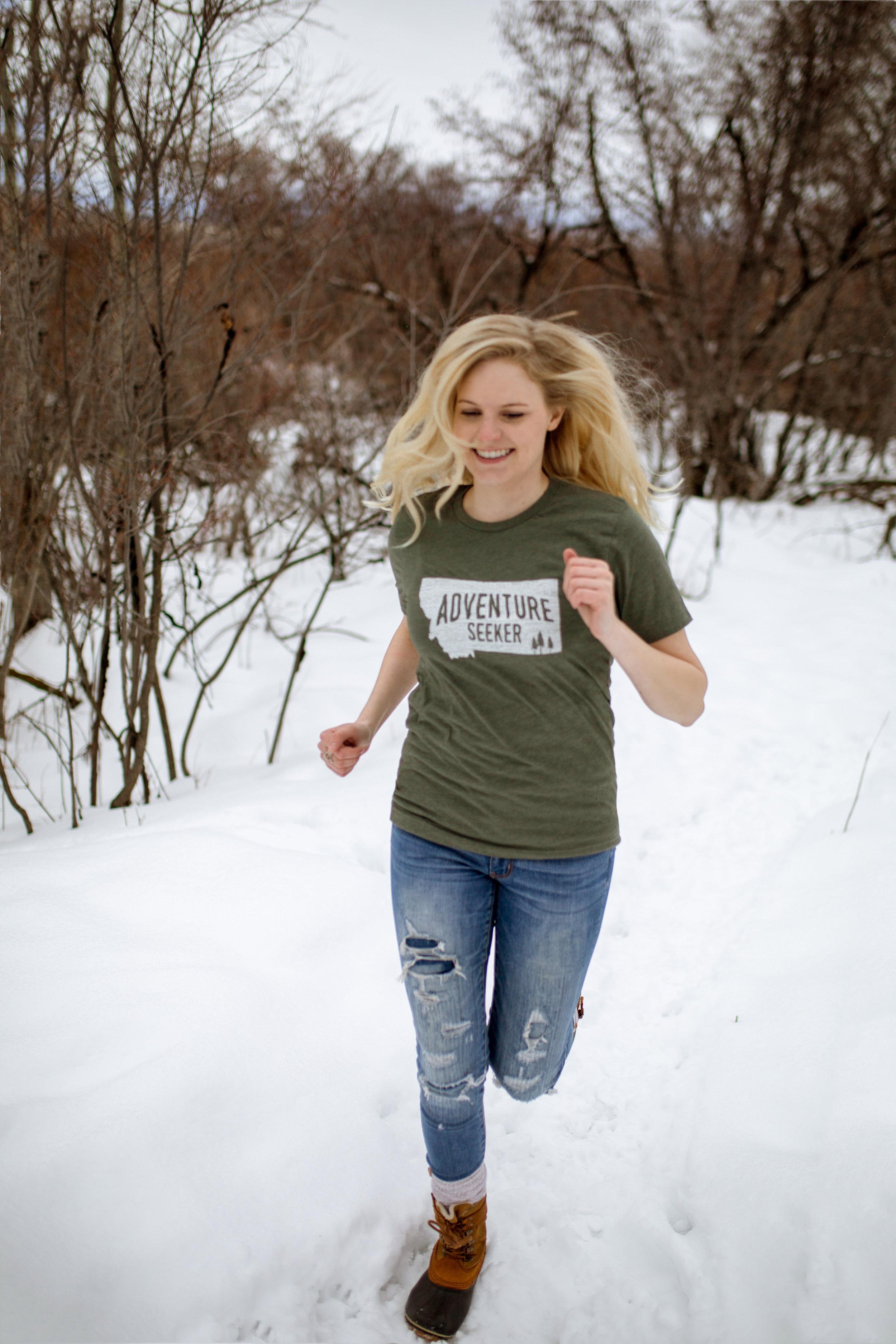 "The Montana Scene ""Adventure Seeker"" tee shirt by blogger Bri Sul"