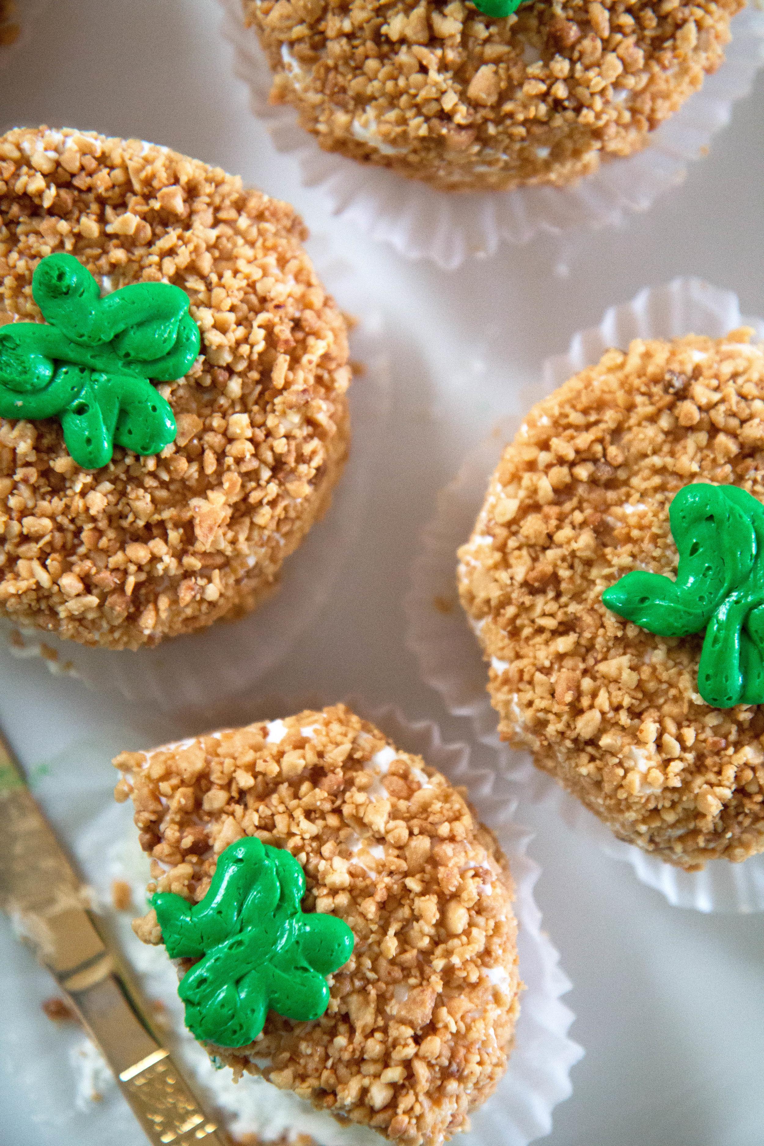 Blarney Stone Mini-cakes for St. Patrick's Day