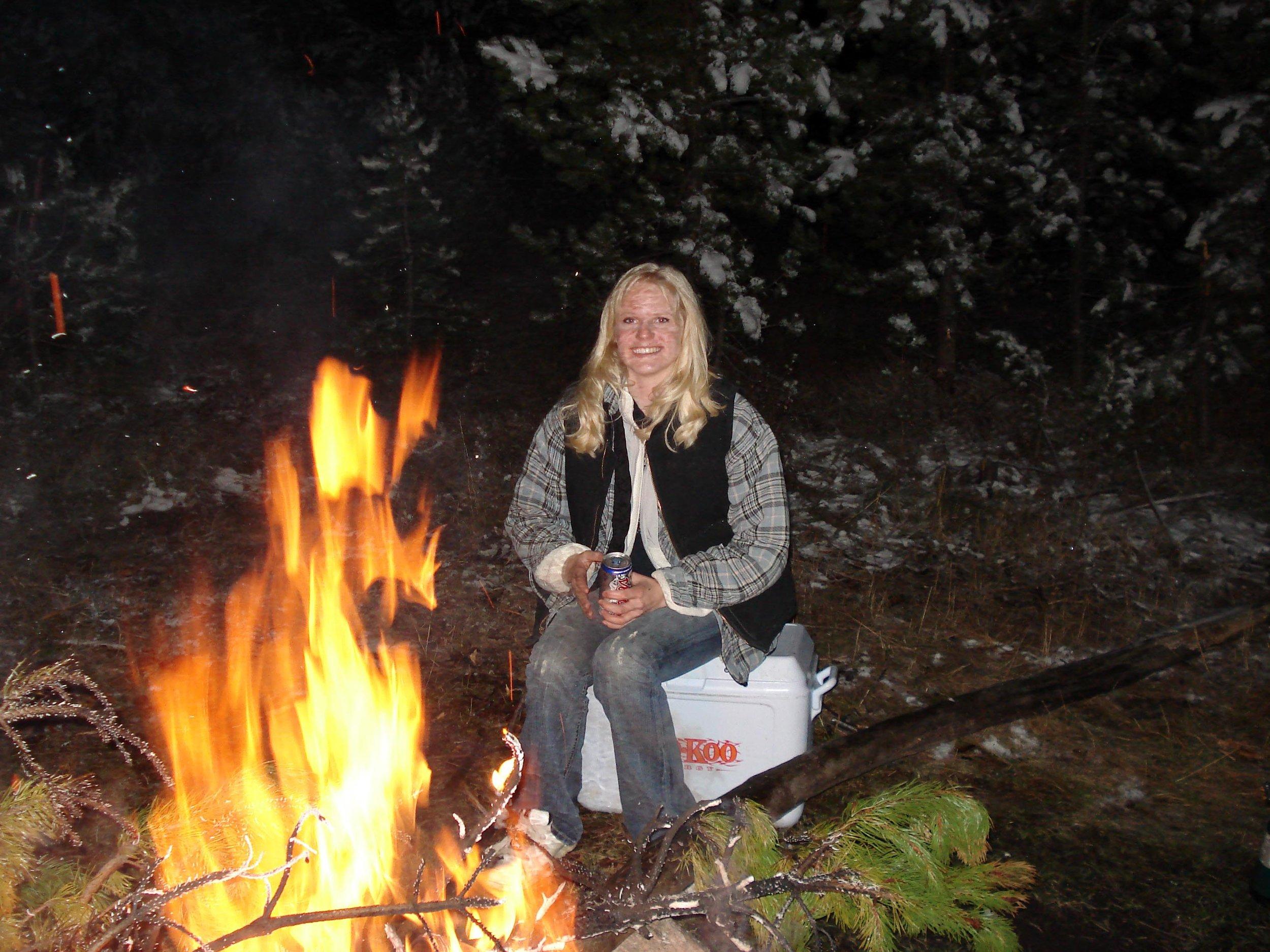 Camping at Hyalite Reservoir near Bozeman, Montana in September.