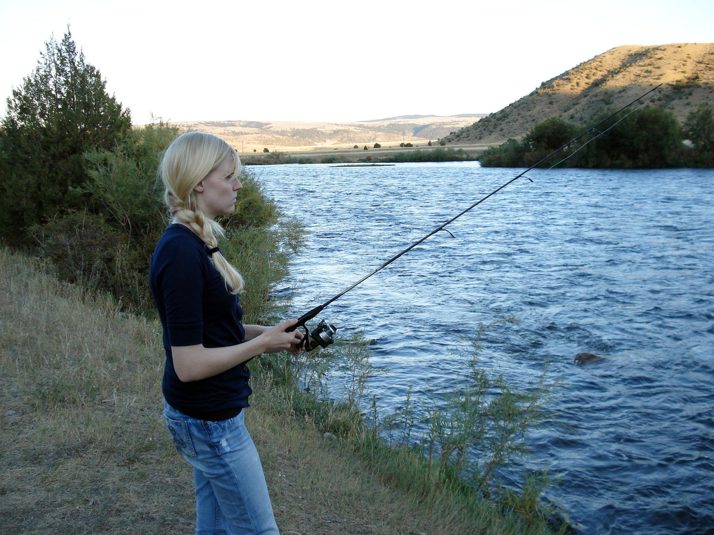 Camping on the Madison River near Bozeman, Montana