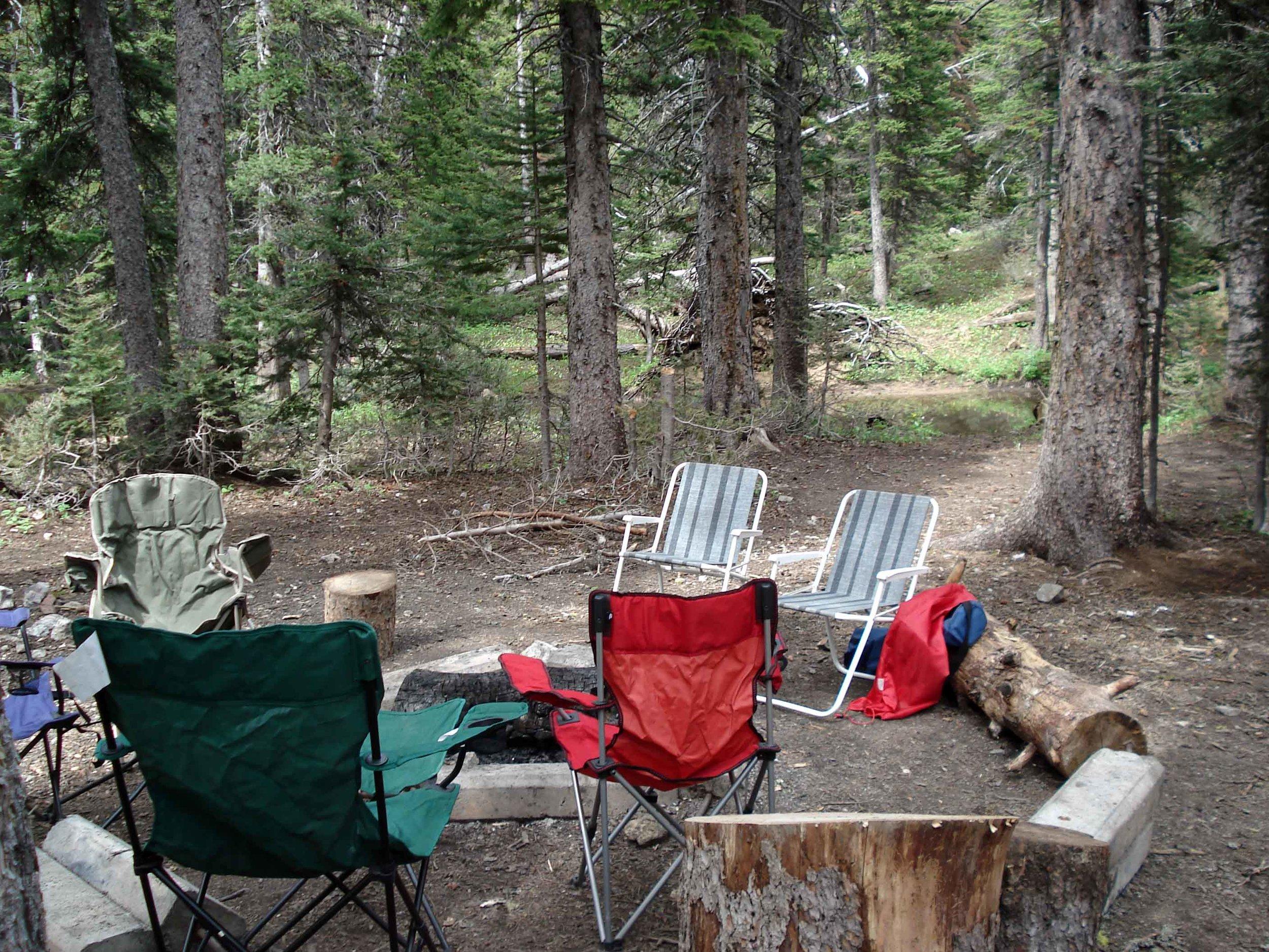 Camping near Fairy Lake near Bozeman, Montana