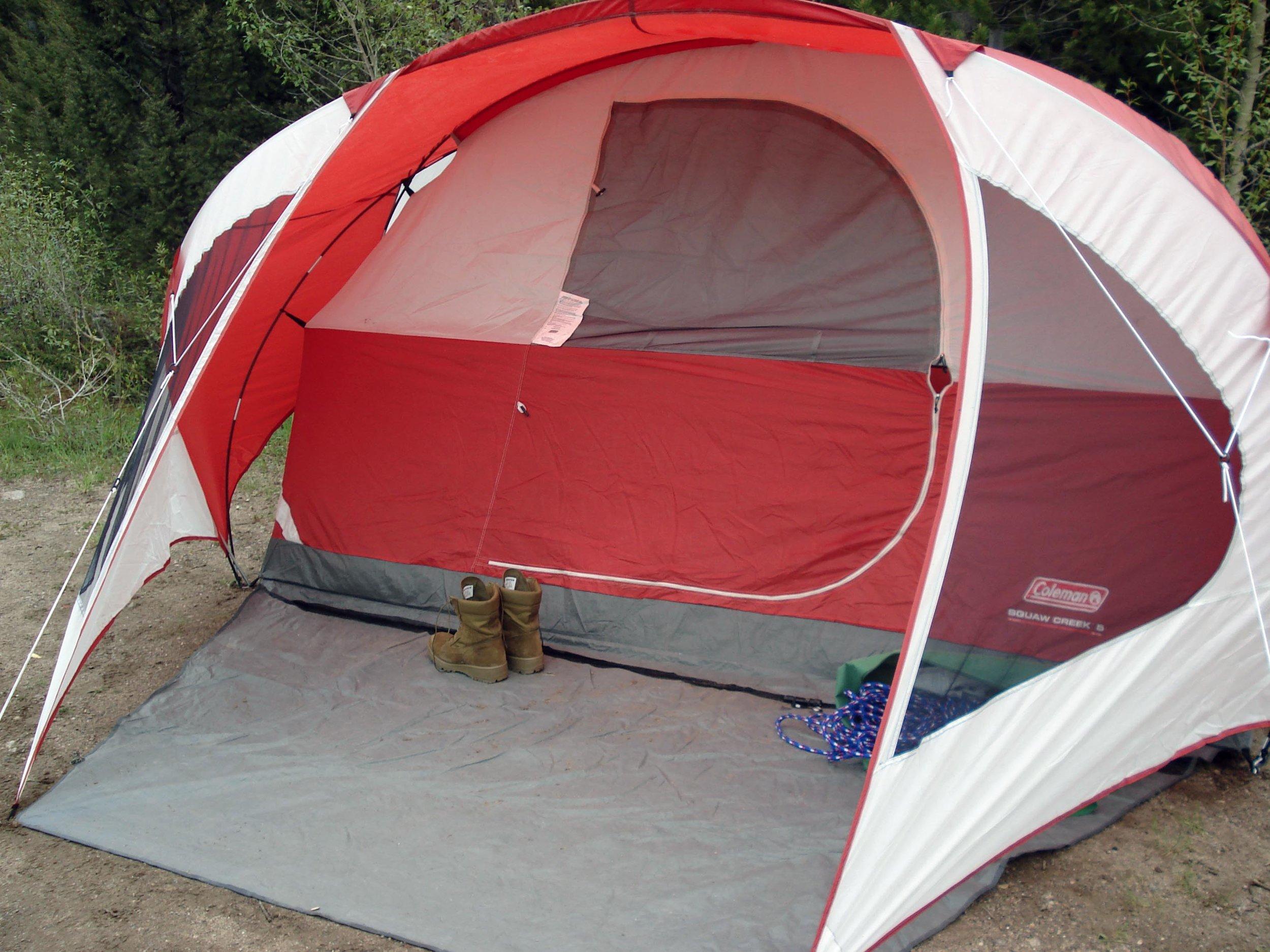 Camping at Hyalite Reservoir near Bozeman, Montana