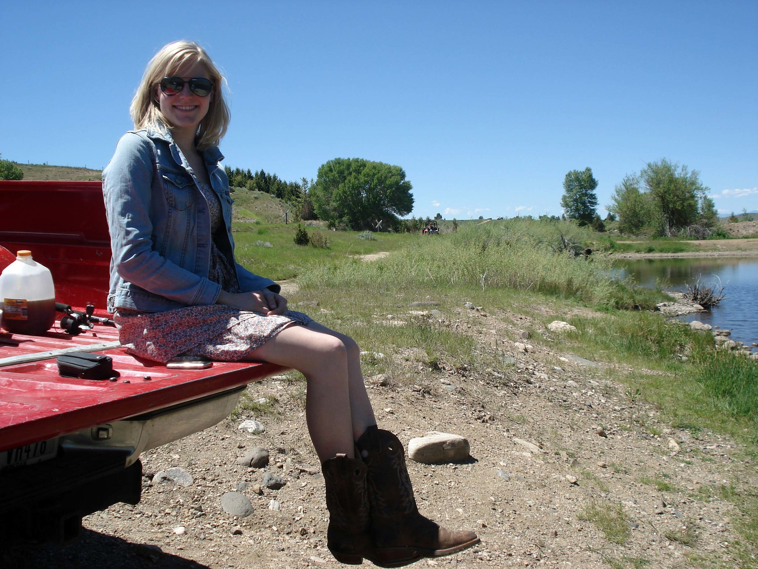 Camping at Ruby Reservoir in Southwestern Montana near Virginia City, Montana