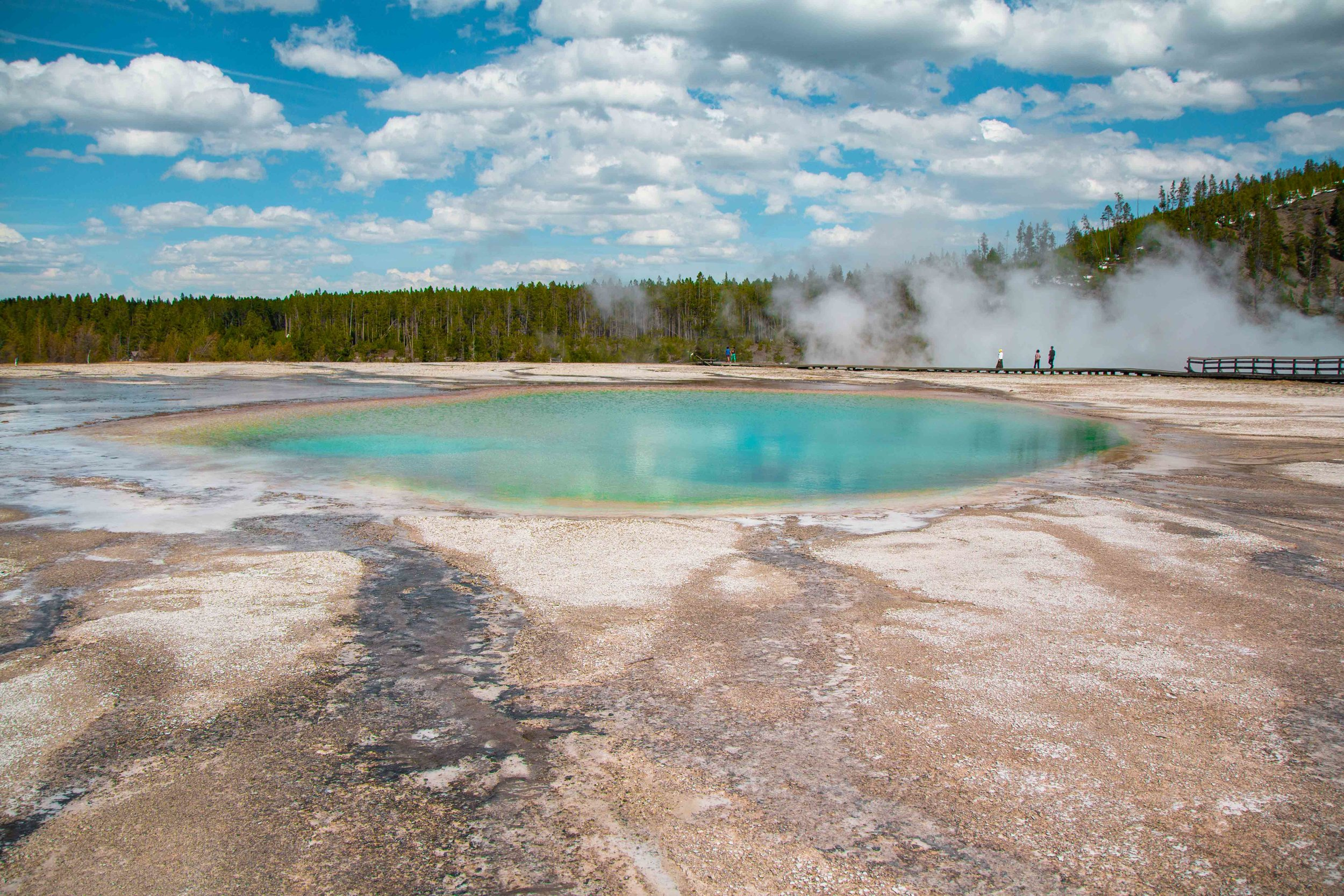 Midway Geyser Basin | The Ultimate Travel Guide for Yellowstone National Park by Travel + Lifestyle blogger Bri Sul