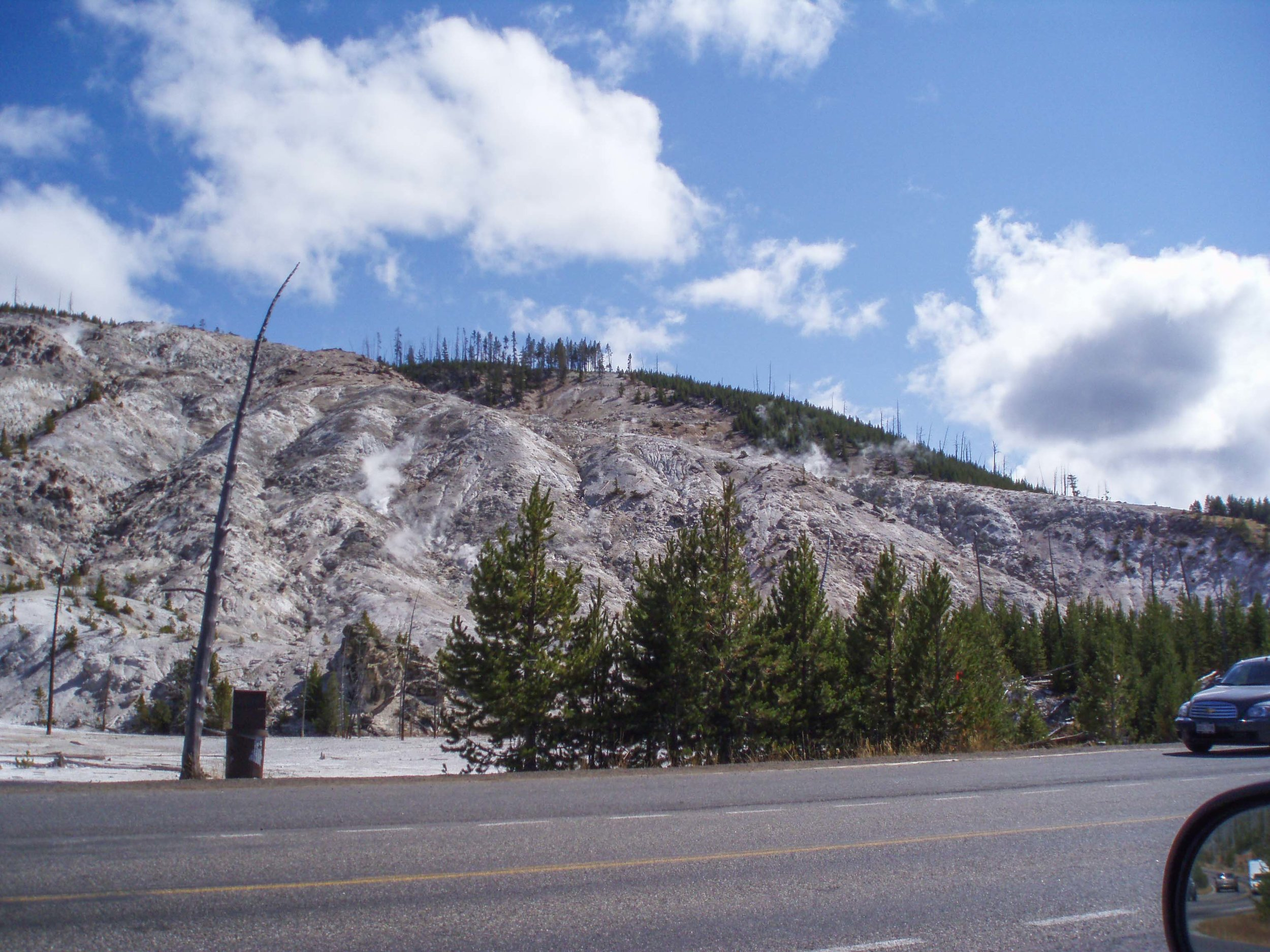 Roaring Mountain | The Ultimate Travel Guide for Yellowstone National Park by Travel + Lifestyle blogger Bri Sul
