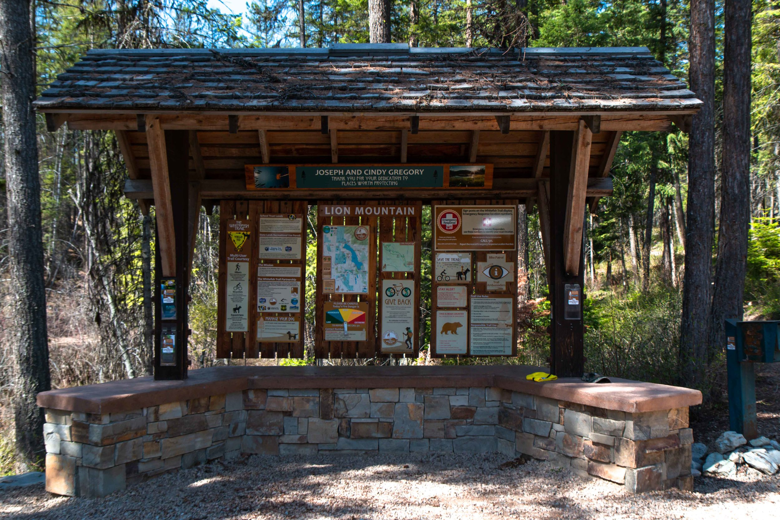 Lion Mountain Trailhead provides 42 miles of natural surface trails and twelve trailheads near Whitefish, Montana. A must for the whole family.