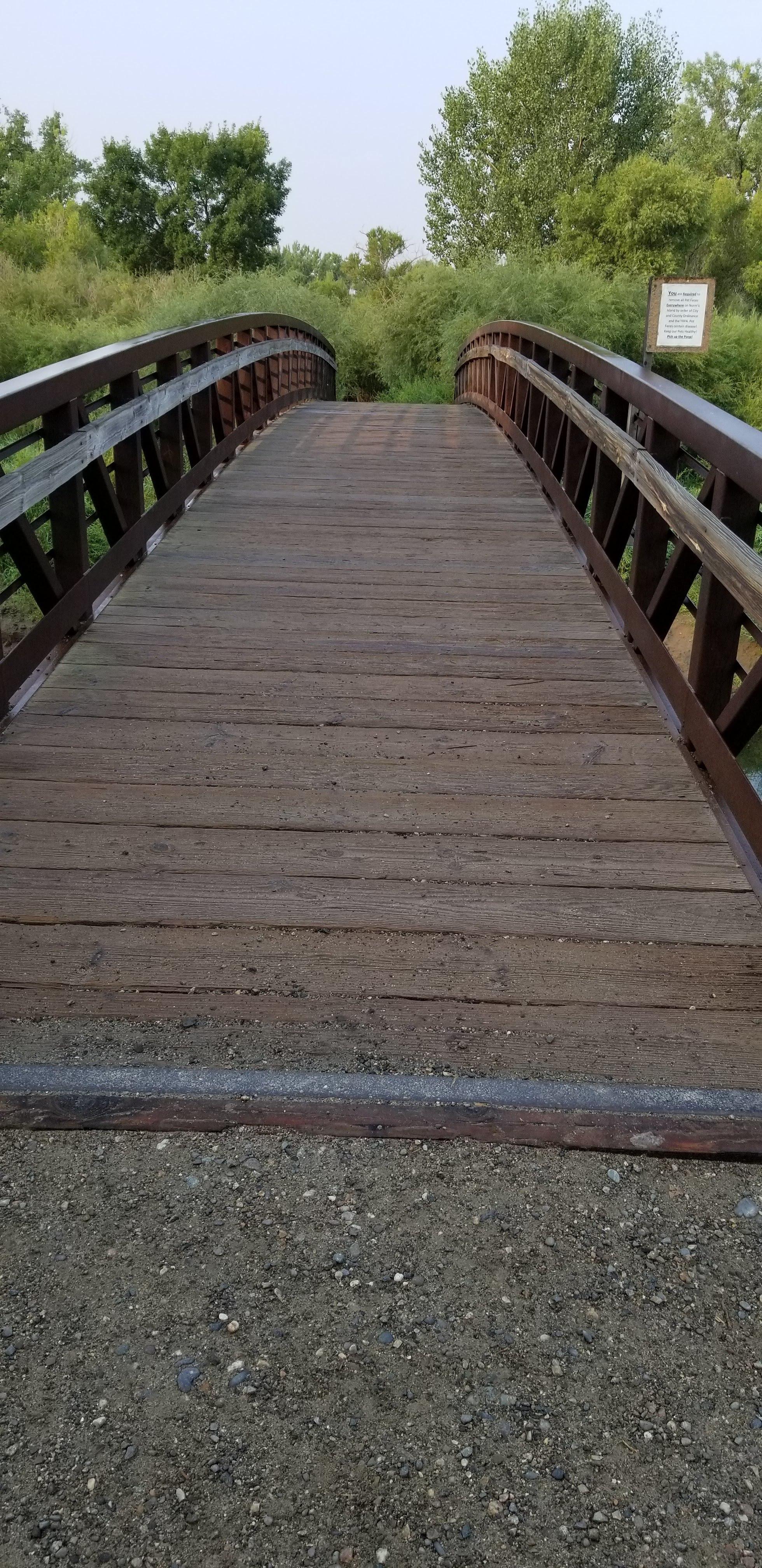 Beautiful bridge and river in Billings, Montana.